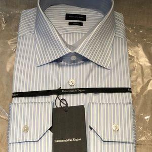 New Ermenegildo Zagna dress shirt. Size 17 1/2